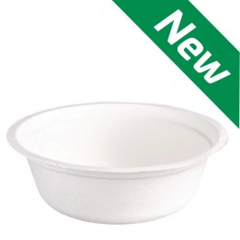 12oz Bagasse Paper Bowl - Compostable