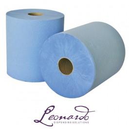 RTB200 200m 1 Ply Blue Leonardo Roll Towel - 6 Rolls per Case