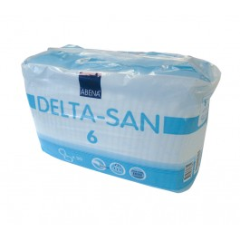 Abena Delta-San 6 Blue Shaped Incontinence Pads - Pack of 30