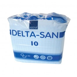 Abena Delta-San 10 Blue Shaped Incontinence Pads - Pack of 20