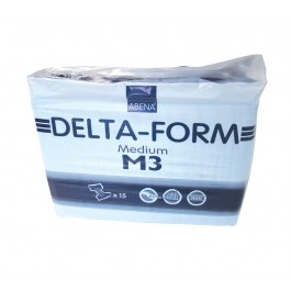 Abena Delta-Form Medium M3 Blue All-In One Pads - Pack of 15