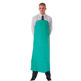 Green Chemical Resistant PVC Apron with Ties