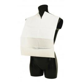 Abena Extra Tissue 58cm White Disposable Bib With Pocket - Pack of 100