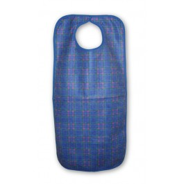 Washable Blue Stuart Tartan Adult Bib