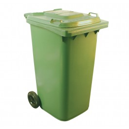 240ltr Green Two Wheel Wheelie Bin