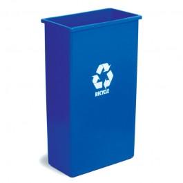 Blue Wallhugger Tall Boy 90ltr Recycle Bin Base