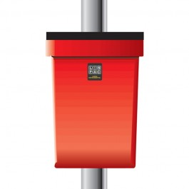 Regent 30ltr Post Mounted Red Dog Waste Bin