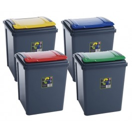 Wham! 50ltr Colour Coded Recycling Bin - Blue