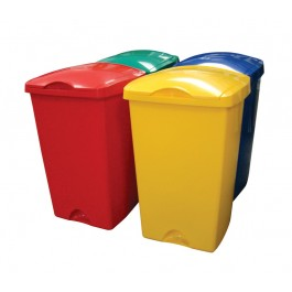 Addis 50Ltr Plastic Lift Top Litter Bin