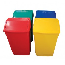 Addis 54Ltr Plastic Swing Top Litter Bin