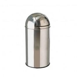 30ltr Stainless Steel Bullet Push Litter Bin
