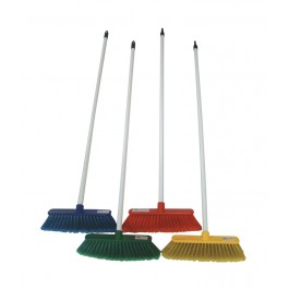 "30cm (12"") Deluxe Soft Plastic Brush and Handle - Colour Coded"