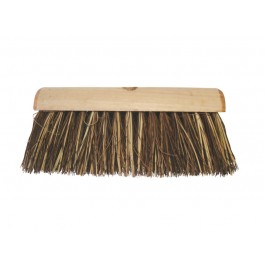 "33cm (13"") Stiff Wooden Yard Brush Head"