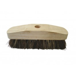 "22cm (9"") Wooden Deck Scrub Brush Head"