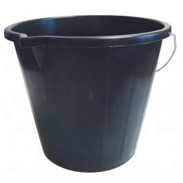 14Ltr Black Plastic Builders Bucket