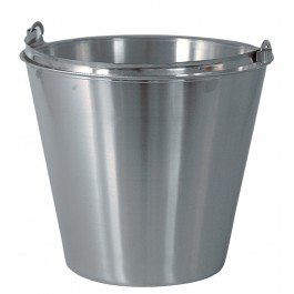 12ltr Stainless Steel Bucket With Base Lip