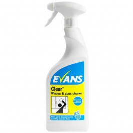 Evans Vanodine Clear Window Cleaner RTU 750ml