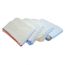 "45x25cm (18x10"") Bleached Dishcloths - Pack of 20 - Colour Coded"