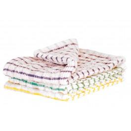 """45x68cm (18x27"""") Check Terry Tea Towels - 10 per Pack"""