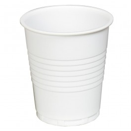 7oz Squat White Plastic Vending Cups - Case of 2000