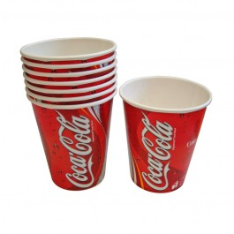 9oz Printed Waxed Paper Coca Cola Cups - Case of 2000