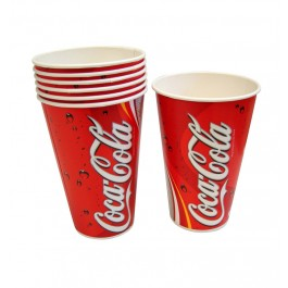 12oz Printed Waxed Paper Coca Cola Drink Cups - Case of 2000