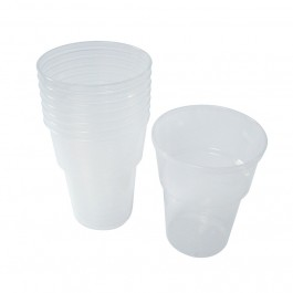 Half Pint Plastic Beer Glasses - 1000 per Case