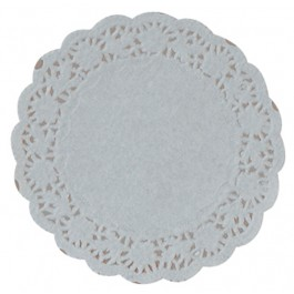"""11cm (4.5"""") Round Lace Paper Doilies - 2000 per Case"""