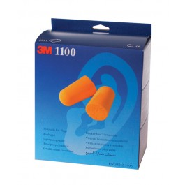 3M 1100 Disposable Ear Plugs - Box of 200 Pairs