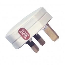 13 Amp 240v Fused White Plug Tops - Pack of 10