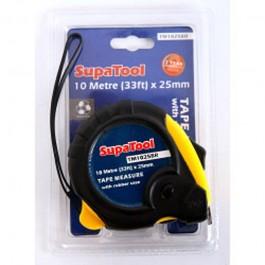 SupaTool Rubberised 10m Tape Measure
