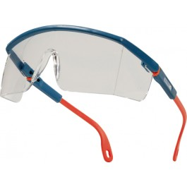 Delta Plus Kilimandjaro Clear AB Blue and Orange Polycarbonate Safety Glasses