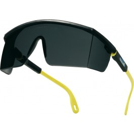 Delta Plus Kilimandjaro Smoke Black and Yellow Polycarbonate Safety Glasses