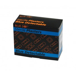 Assorted Blue Metal Detectable Plasters - Box of 100