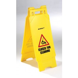 Plastic Folding Closed For Cleaning Sign