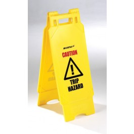 Plastic Folding Caution Trip Hazard Sign