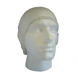 White Knotted Hairnets - 100 per Pack