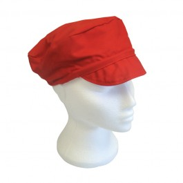 Mens Peaked Polycotton Cap with Snood