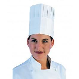 "180mm (7"") Pleated Paper Commis Chefs Hats - 50 per Case"