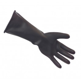 Black Heavy Weight Rubber Gloves