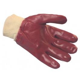 Standard Red PVC Knitwrist Gloves