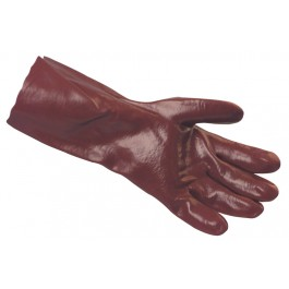 Red PVC Coated Rubber Gauntlets