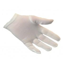 Ladies White Nylon Gloves