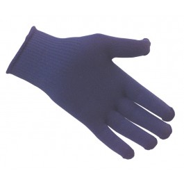 Navy Thermal Insulator Gloves with Blue Dots