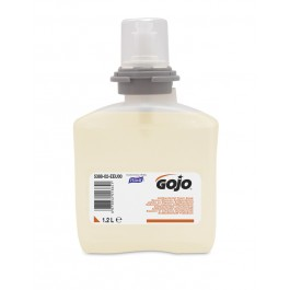 GOJO 5378 Mild Antimicrobial Foam Handwash 1200 mL Refill for GOJO TFX Dispenser (2 Cartridges per Case)