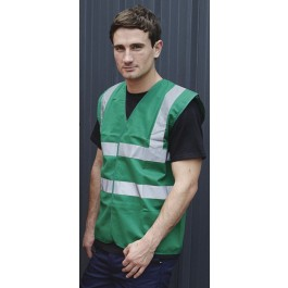 Paramedic Green Visibility Waistcoat - Available In Sizes Medium - XXX Large