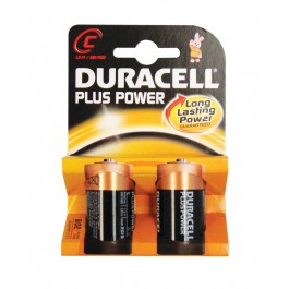 Duracell Plus MN1400 Type C 1.5v Batteries - Pack of 2