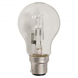 Clear 28W Bayonet Cap BC GLS Halogen Lamp