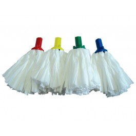 Big White 120g Exel Socket Mop - Colour Coded
