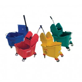 31Ltr Big Mouth Kentucky Mop Bucket and Wringer - Colour Coded